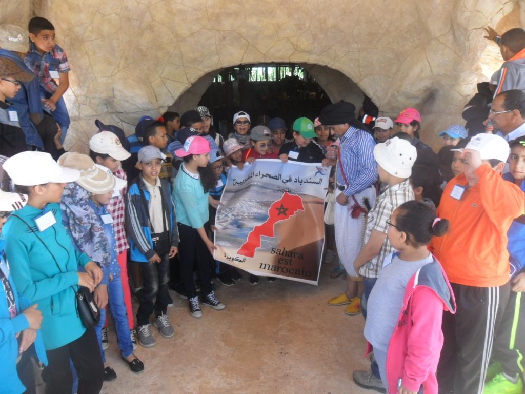 تلميذات وتلاميذ مدرسة 18 نونبر و السندباد المغربي في رحلة تلميذية عجيبة