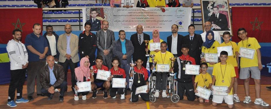 نتائج الدوري الوطني المفتوح في تنس الطاولة بمدينة تيزنيت
