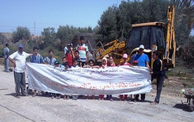 حملة نظافة لجمعية حي أدوز للتنمية والتعاون بتيزنيت