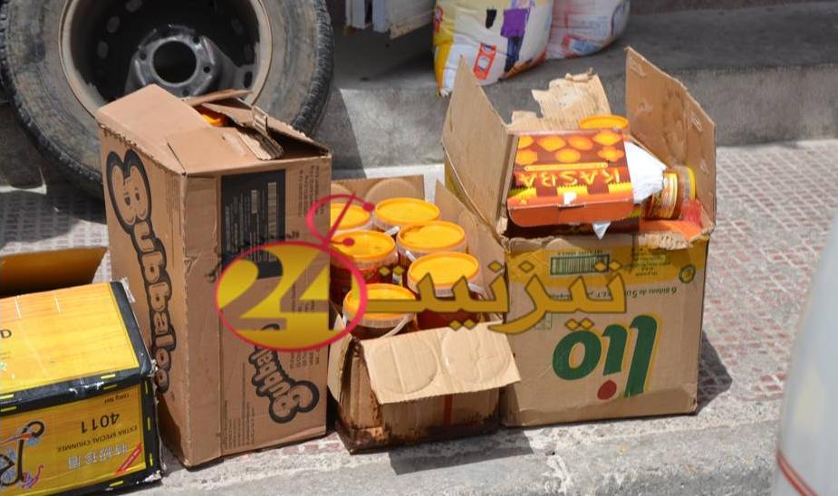 حجز مواد غذائية فاسدة في محل للبيع بالجملة بحي اليوسفية بتزنيت