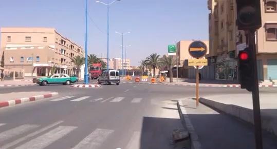 بالفيديو : ارتباك مروري بعد تغيير مسار السير بشارع الحسن الثاني