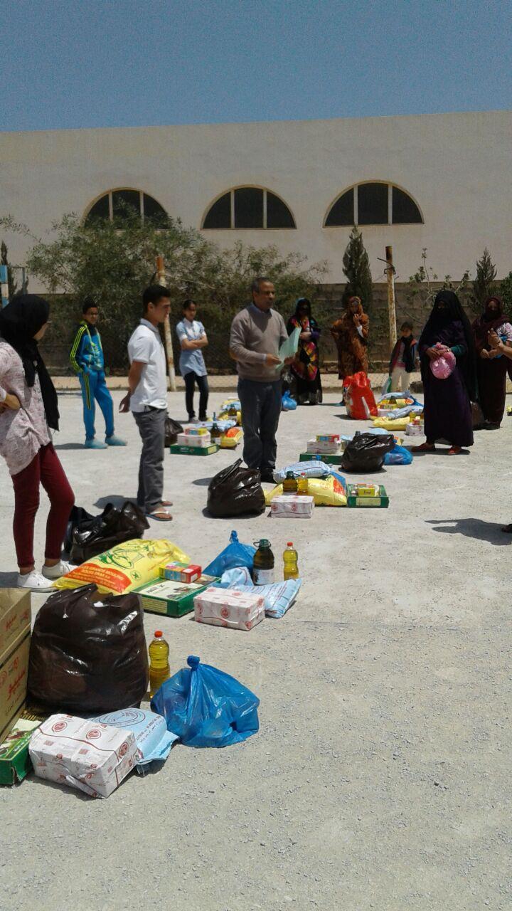 جمعية تيفاوين بميراللفت تنظم عملية توزيع المواد الغذائية و ملابس الفضل على اليتامى المتمدرسين المتكفل بهم