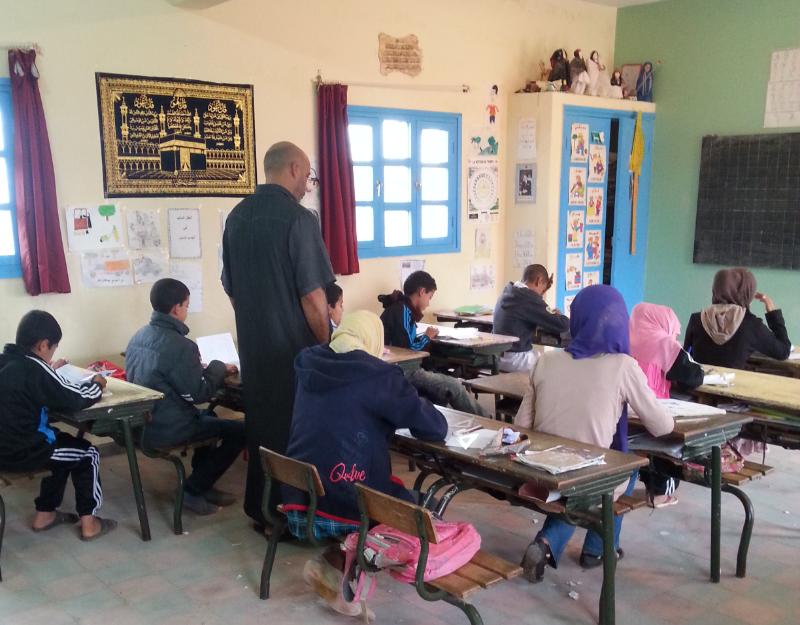 مجموعة مدارس محمد بن الحسين بالمديرية الإقليمية سيدي افني جماعة تيوغزة تنفرد  بتنظيم الامتحان التجريبي لتلاميذ المستوى السادس