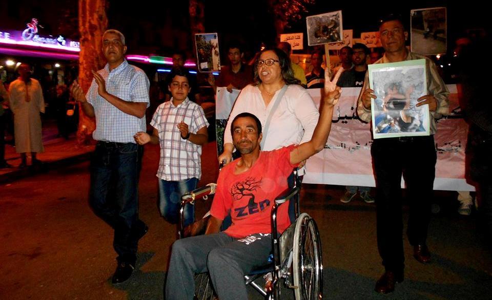 مسيرة ليلية بفاس من أجل إنقاد حياة الدكتور عادل أتنيل