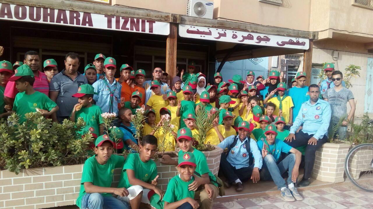 جمعية الأعمال الاجتماعية لموظفي وأعوان جماعة سيدي بوعبدلي في استقبال لكشافة المغرب