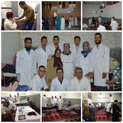 110 متبرع بالدم في حملة مؤسسة محمد السادس للنهوض بالاعمال الاجتماعية للقيمين الدينيين