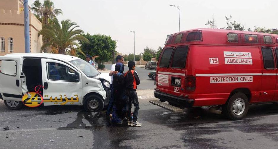 حادثة سير خطيرة بالمدار الحضري لتيزنيت تخلف 4 جرحى