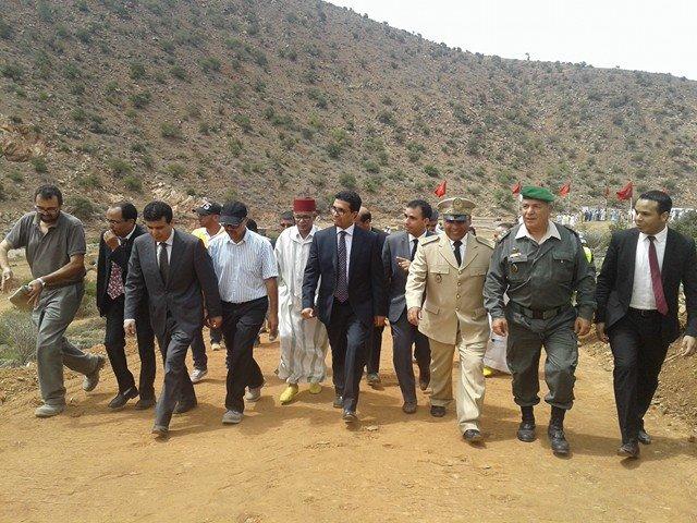 تدشين وإعطاء الانطلاقة لعدد من المشاريع التنموية بإقليم سيدي إفني