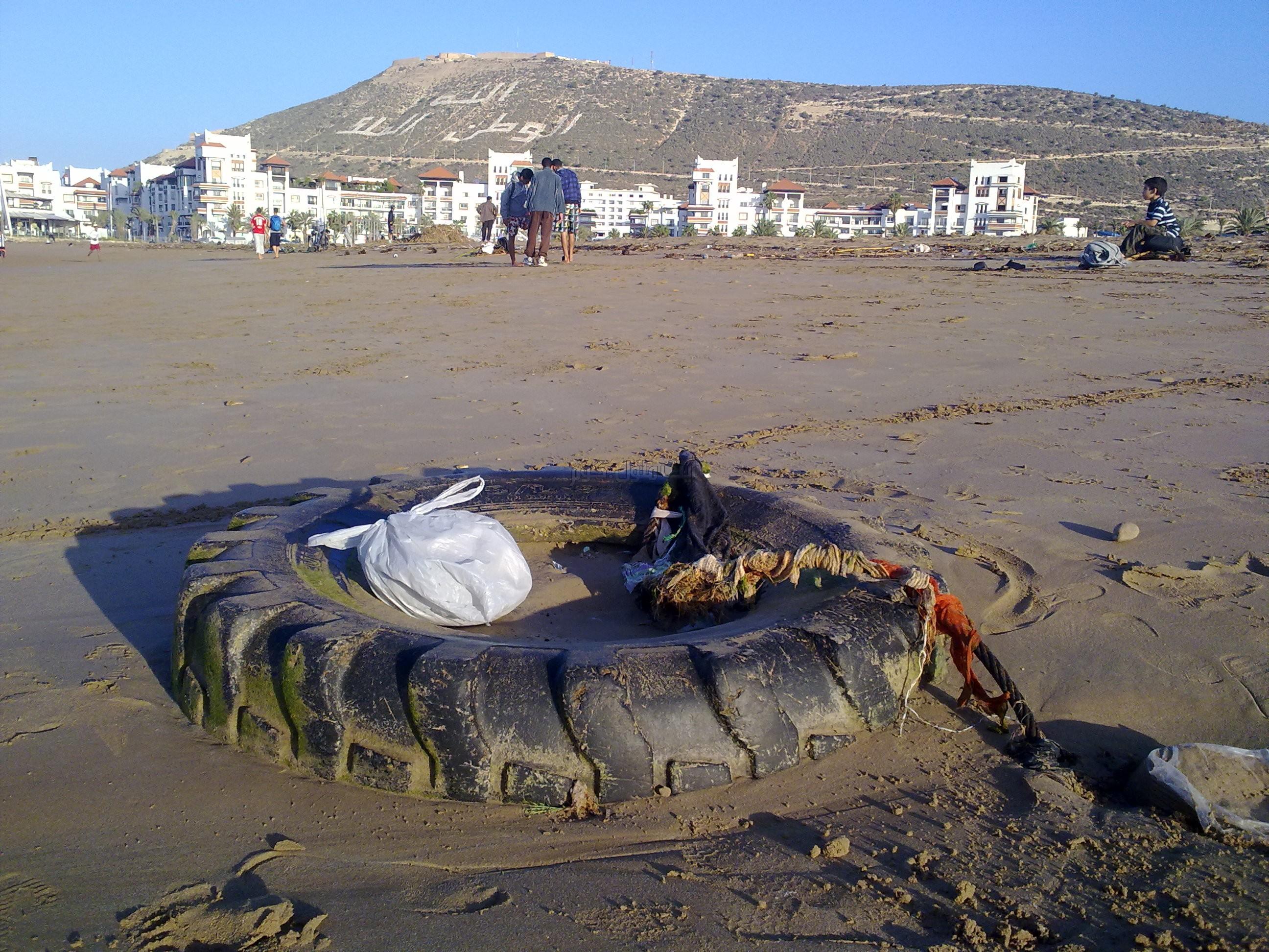 نفايات أوروبا تصل ميناء أكادير