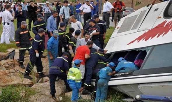انقلاب حافلة كانت في رحلة استجمام بأكادير يخلف ضحايا وإصابات في صفوف الأطفال.