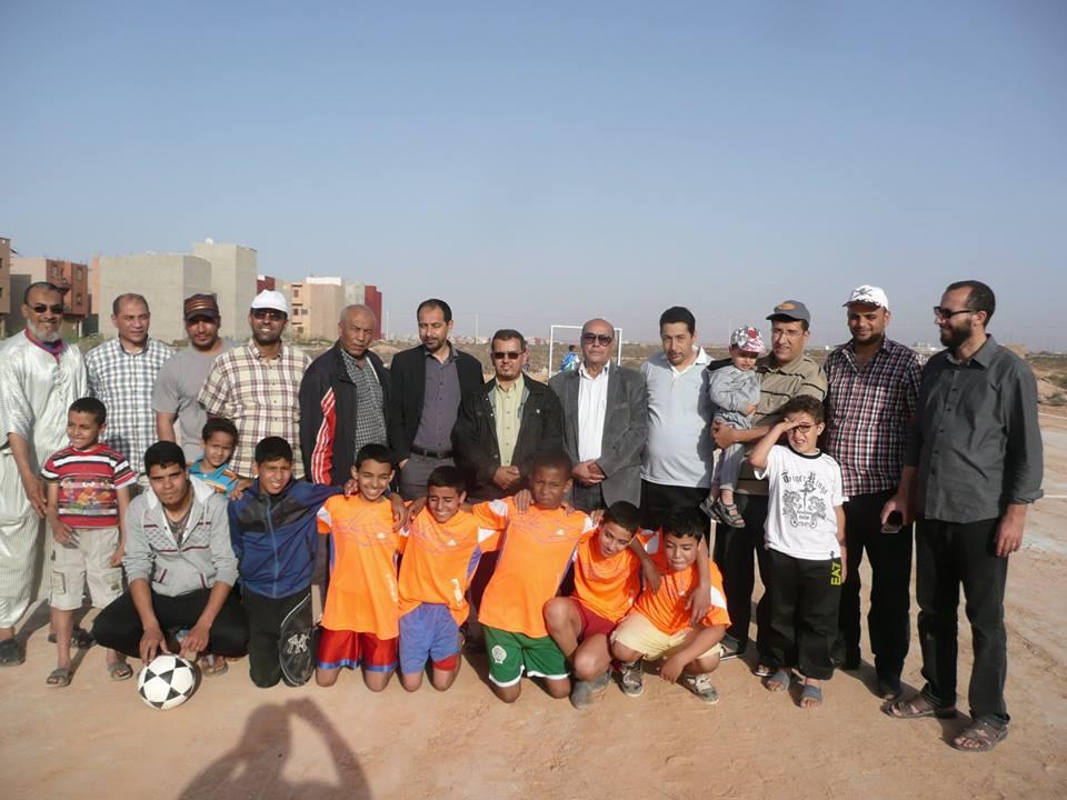 المباراة النهائية في كرة القدم لدوري رمضان لجمعية الحي الحسني
