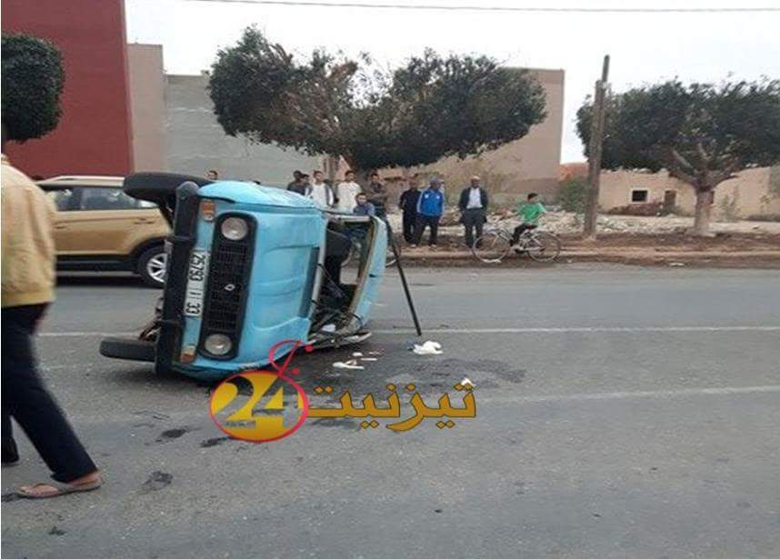 حادثة سير خطيرة بتيزنيت تخلف جريح قبيل صلاة المغرب