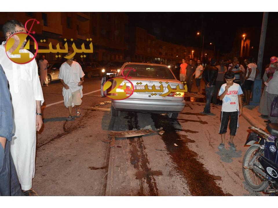 بالفيديو : حادثة السير الخطيرة بشارع 30 بتيزنيت