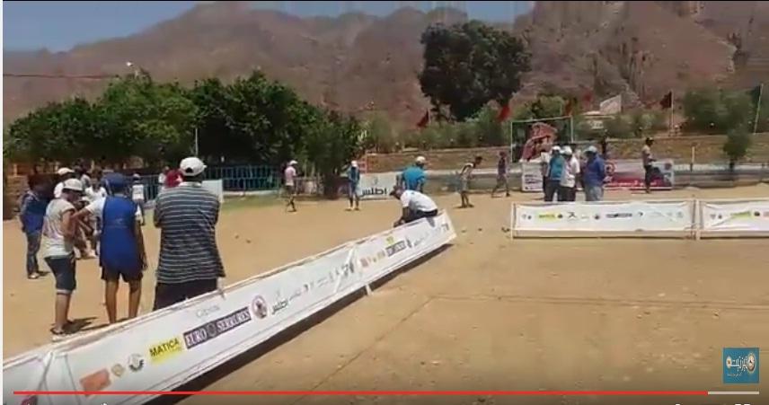 بالفيديو : دوري الكرة الحديدية بفيستفال تيفاوين 2016