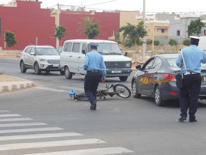 جرح سائق دراجة نارية في حادثة سير بتيزنيت