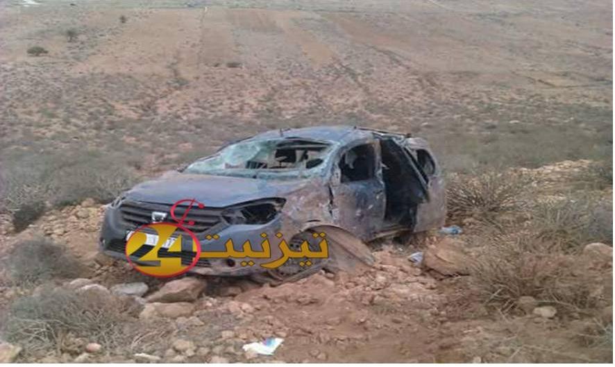 جرح انجليزي و زوجته في حادث سقوط سيارتهم من منعرجات تاملالت
