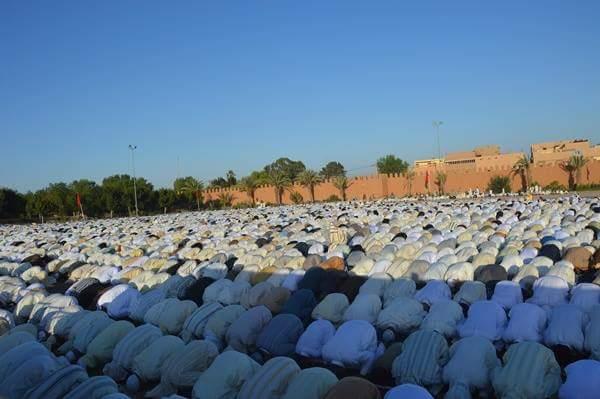 بالصورة : صلاة عيد الأضحى الأبرك بمدينة تيزنيت