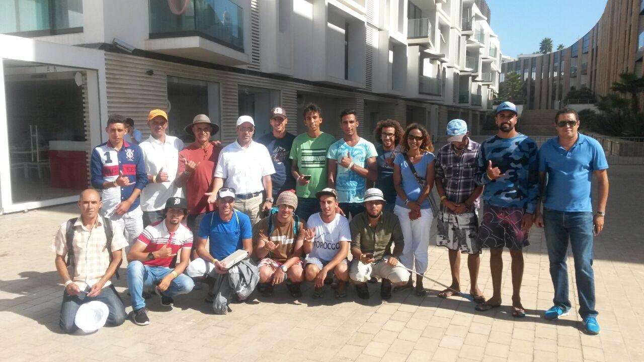 أندية سوس الصحراء لركوب الموج ضيفة شرف على دورة quiksilver-pro الدولية بالدار البيضاء
