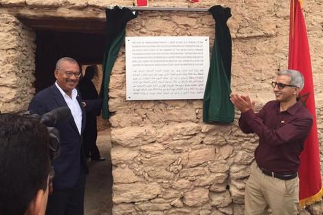 سفير الولايات المتحدة الأمريكية يدشن نهاية أشغال ترميم مخازن جماعية أثرية بإقليم طاطا