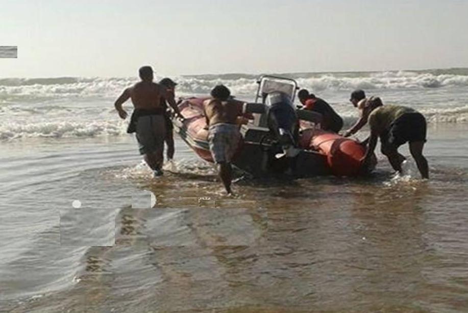 غرق شابين وإنقاذ ثالث بشاطئ سيدي الوافي بميراللفت