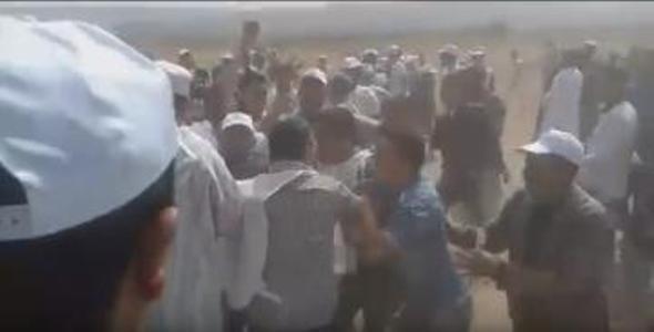 اشتوكة ايت بها بالفيديو:اشتباكات عنيفة بين أنصار مرشح الاستقلال ومرشح البام