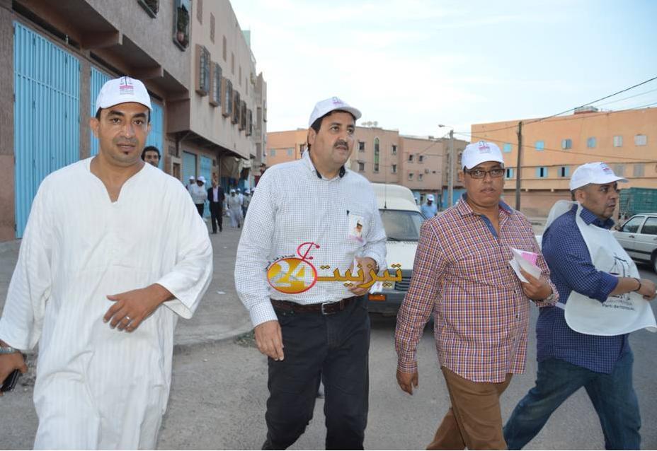 عبد الصمد قيوح يحل بتيزنيت و يقود حملة انتخابات حزب الميزان + فيديو وصور