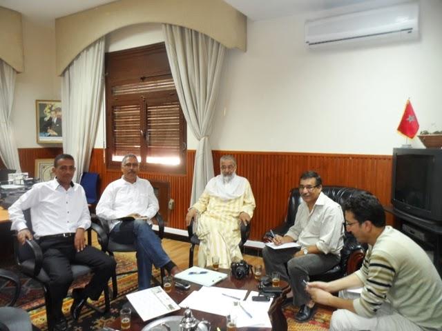 مصطفى المتوكل رئيس بلدية تارودانت يعرض إنجازاته في ندوة صحفية